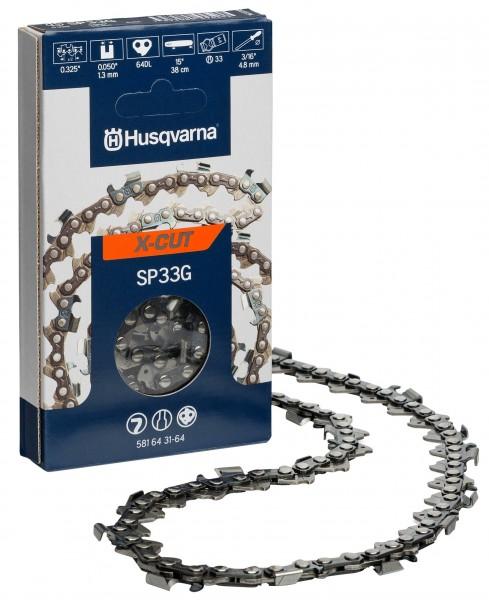 """Husqvarna Sägekette X-Cut Halbmeißel .325"""", 1,3 mm, 56 TG"""