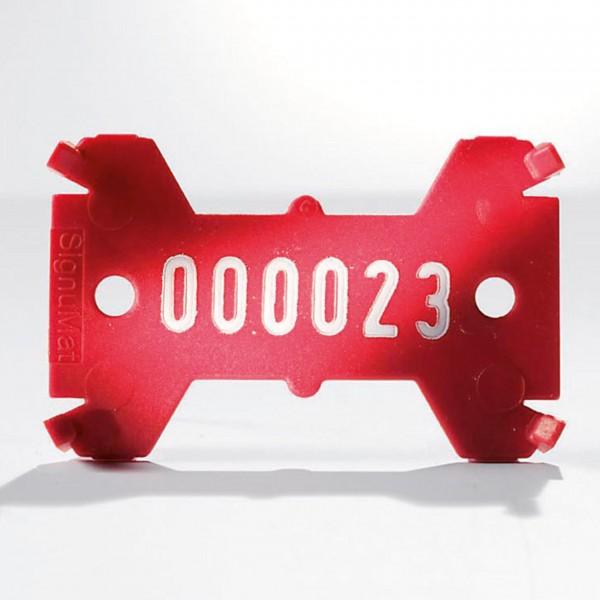 Kunststoffplättchen Typ 01 - einzeilig