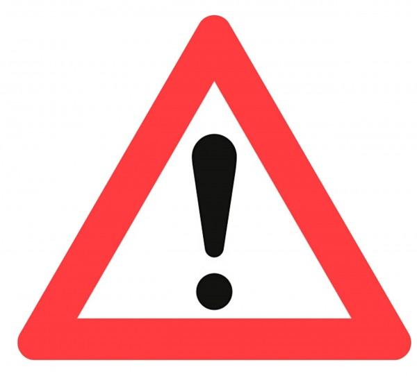 Advarselstavle A99 70 cm, til træfældning