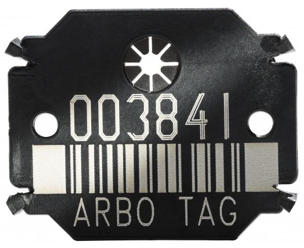 Arbo Tag Plättchen Barcode Black