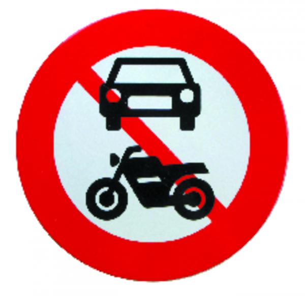 Motorkøretøjer forbudt