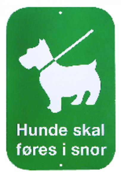 Skilt Hunde skal føres i snor