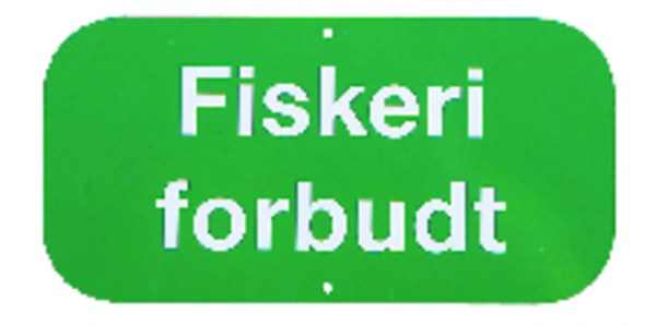 Skilt Fiskeri forbudt