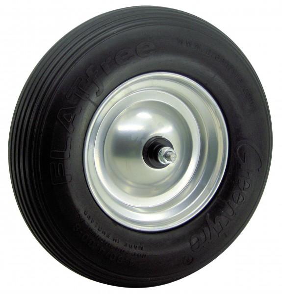 Pannensicheres PU-Rad 400/100 aus Stahlblech