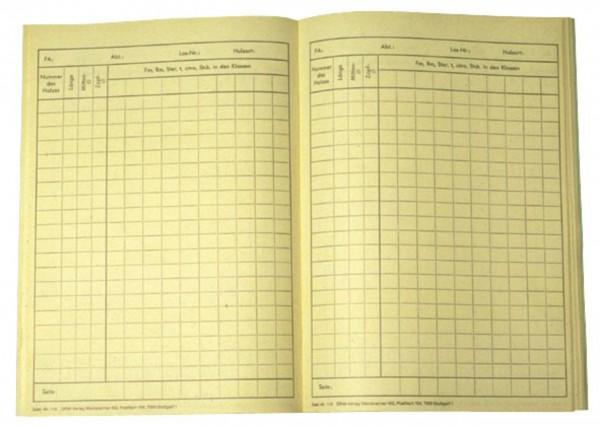 Holzaufmaßlisten für Rund- und Schichtholz