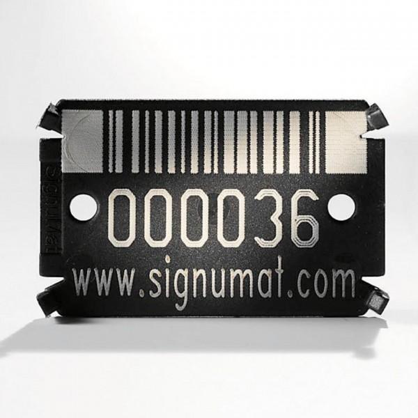 Hightech-Plättchen Barcode Black