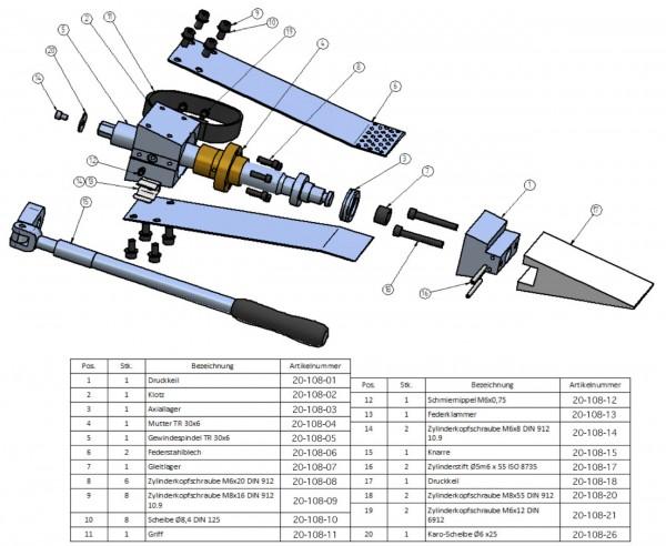 TR 30 Zylinderkopfschraube M 6x12