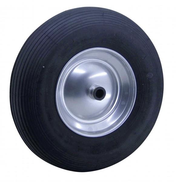 Gummihjul 400/100 stålplade