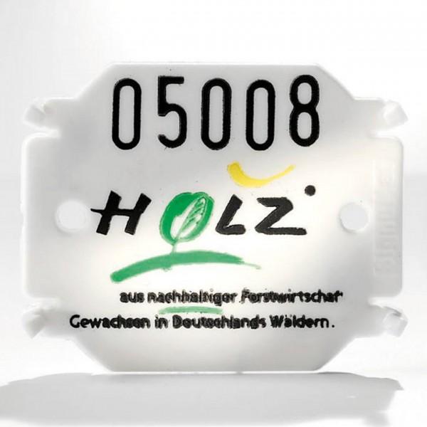 Kunststoffplättchen Typ 04 - dreizeilig oder mit Firmenzeichen