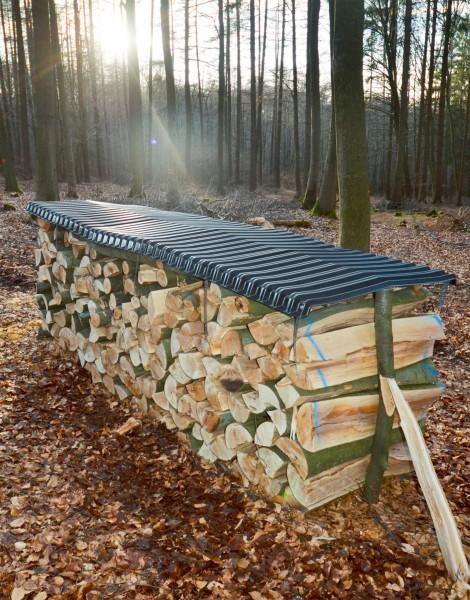Brennholzabdeckung